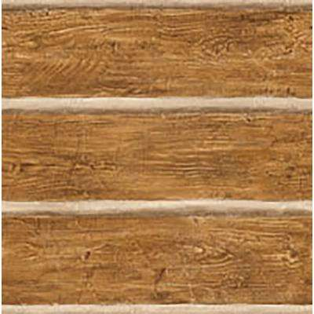 Chinking Chestnut Wood Panel Wallpaper Sample