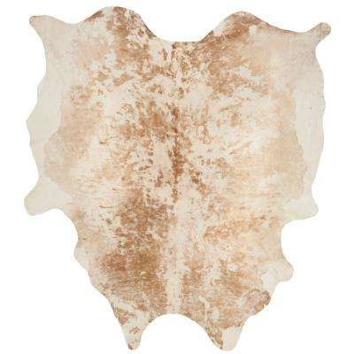 Cow Hide Tan 6 ft. x 7 ft. Area Rug