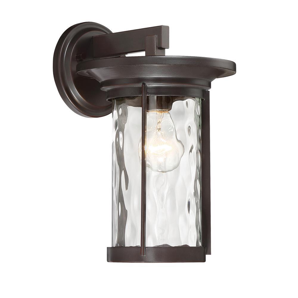 Brookline 1-Light Satin Bronze Outdoor Wall Mount Lantern