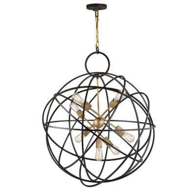 7-Light Oil Rubbed Bronze Chandelier