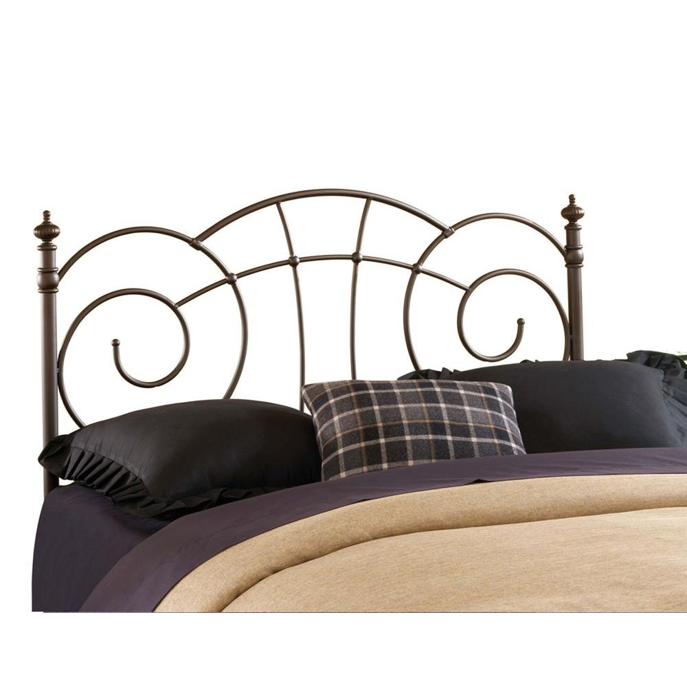Hillsdale Furniture Del Rio Metallic Brown King-Size Headboard with Rails-DISCONTINUED