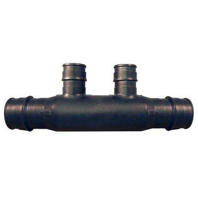 3/4 in. Poly-Alloy PEX-A Expansion Barb Inlets x 1/2 PEX-A Expansion Barb 2-Port Open Manifold