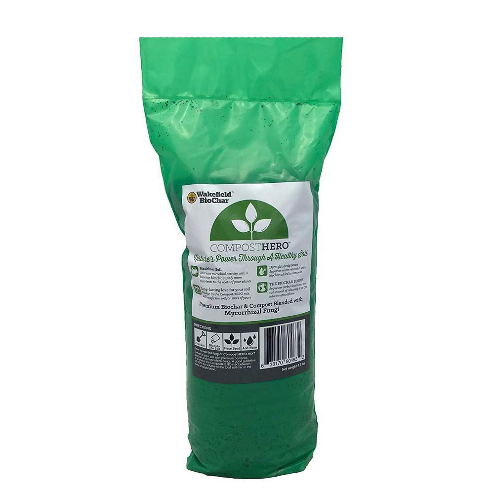 HERO Blend 1.5 lbs. Biochar Organic Garden Compost with Mycorrhizal Fungi