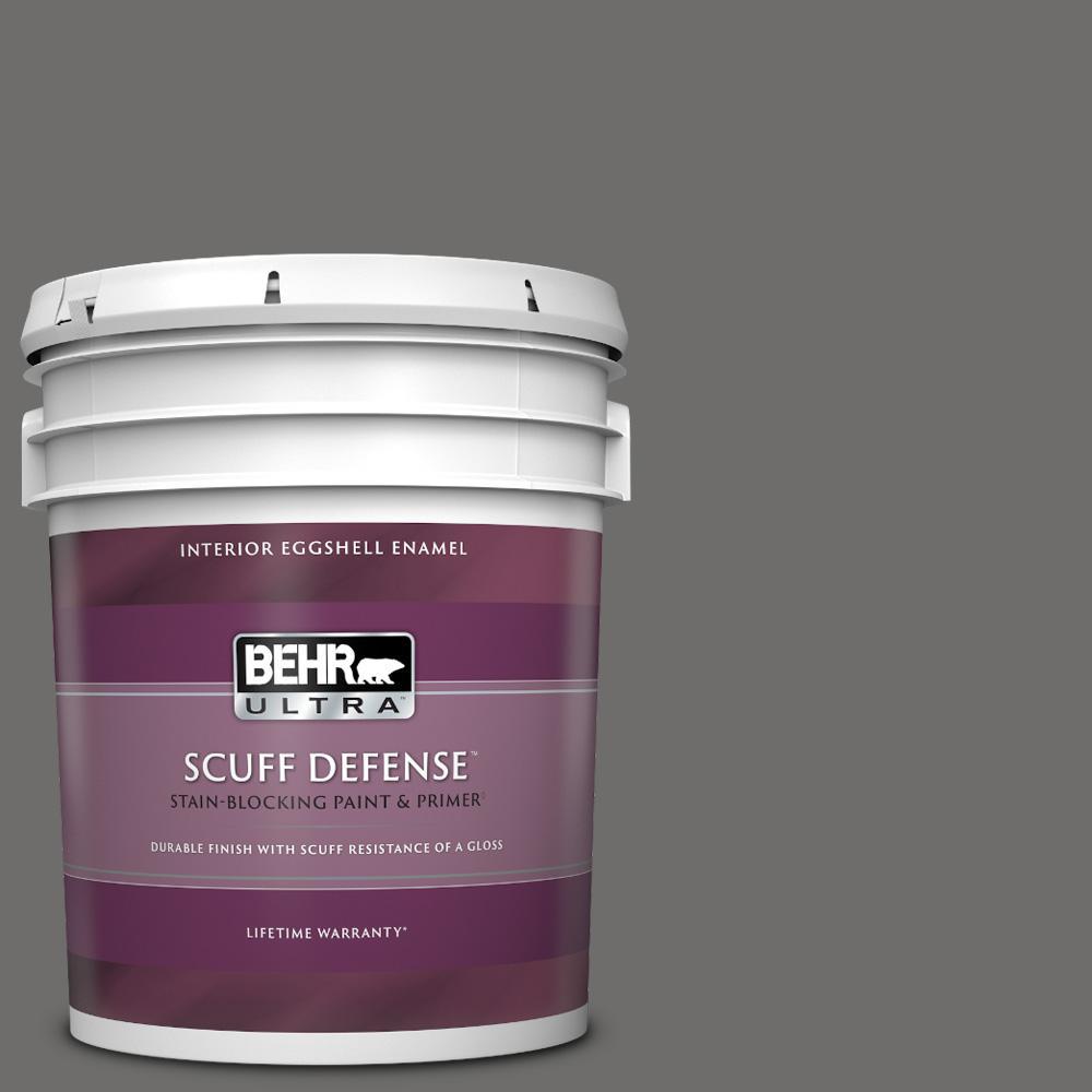 Behr Ultra 5 Gal 780f 6 Dark Granite Extra Durable Eggshell Enamel Interior Paint Primer 275305 The Home Depot