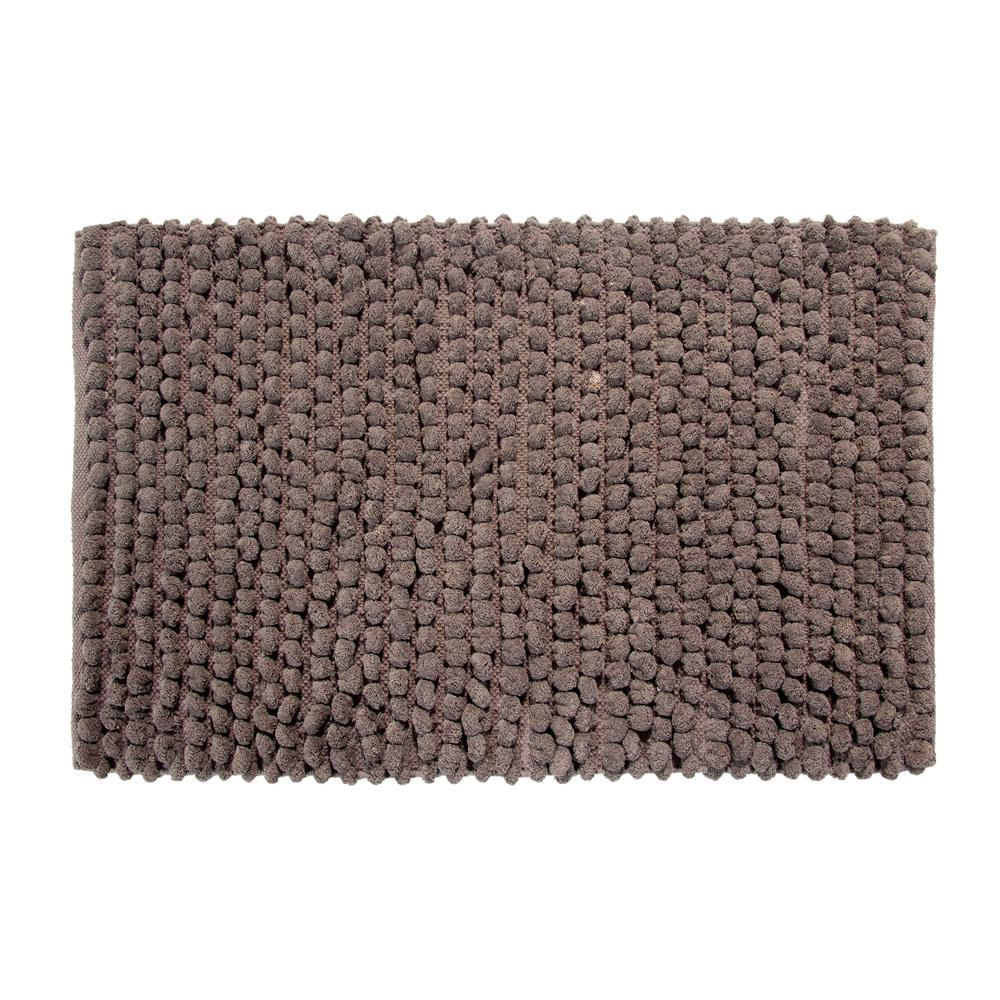 Saffron Fabs Bubbles Pattern 50 In X 30 Cotton And Microfiber Gray Latex Spray Non Skid Backing Bath Rug