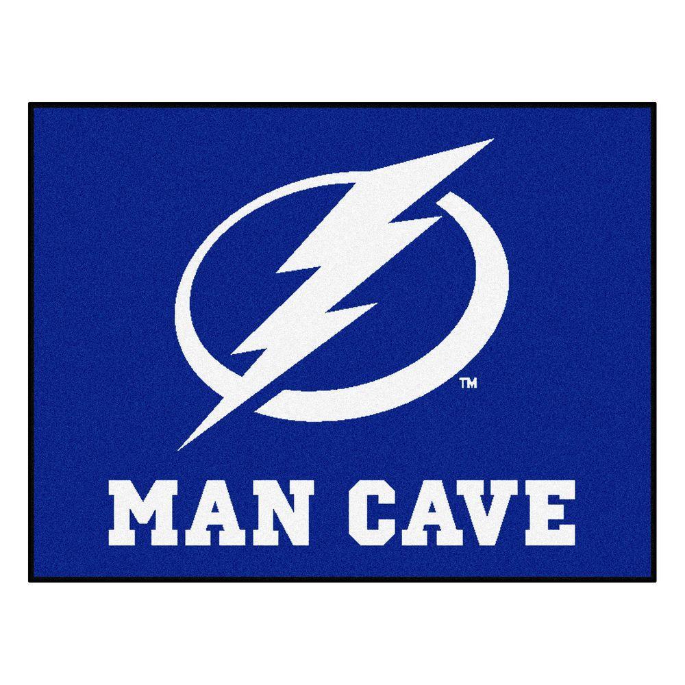 Tampa Bay Lightning Blue Man Cave 3 ft. x 4 ft. Area Rug