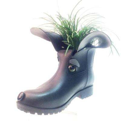 11 in. Cody the Boot Buddies Dog Sculpture and Planter Home and Garden Loyal Companion Figurine