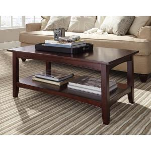 Alaterre Furniture Shaker Cottage Espresso Storage Coffee Table Asca11p0 The Home Depot