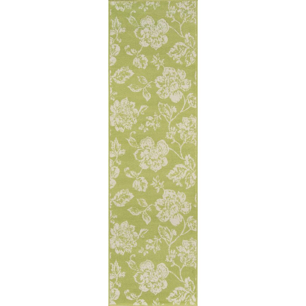 Baja Floral Blooms Green 2 ft. 3 in. x 7 ft.