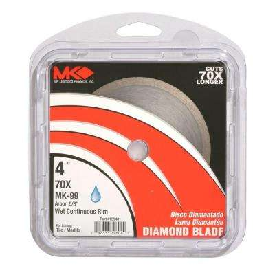 4 in. Wet-Use Continuous-Rim Diamond Blade