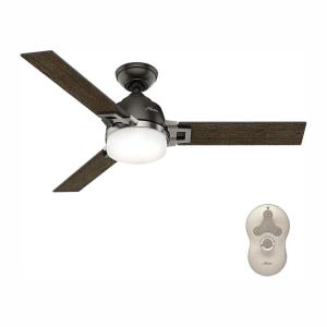Leoni 48 in. LED Indoor Noble Bronze Ceiling Fan with Light and Remote