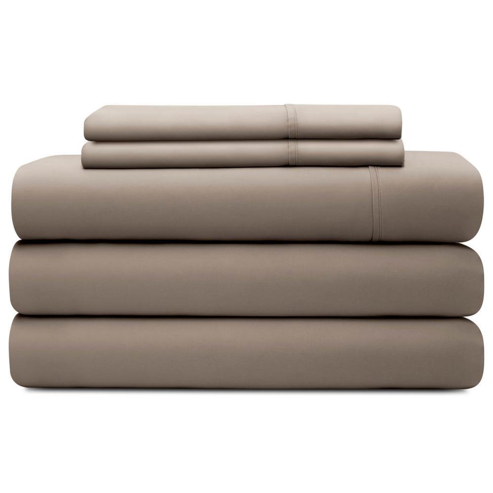 Brookside 5-Piece Sandstone Tencel California King Split Sheet Set BS03SCSATS