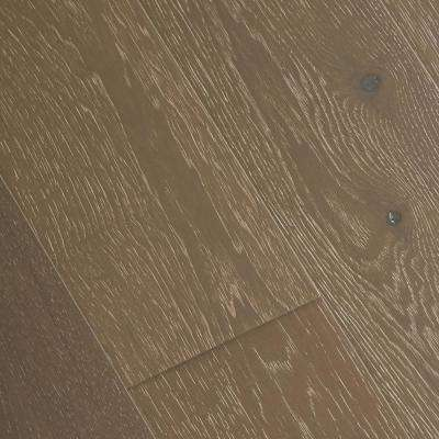 Wire Brushed Brisbane Hickory 3/8 in. T x 7-1/2 in. W x Varying L Click Engineered Hardwood Flooring (19.69 sq.ft./case)