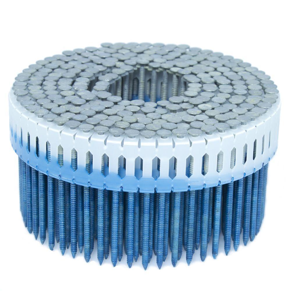 2.25 in. x 0.092 in. 0-Degree Ring Hot Dip Plastic Sheet Coil Nail 1,000 per Box