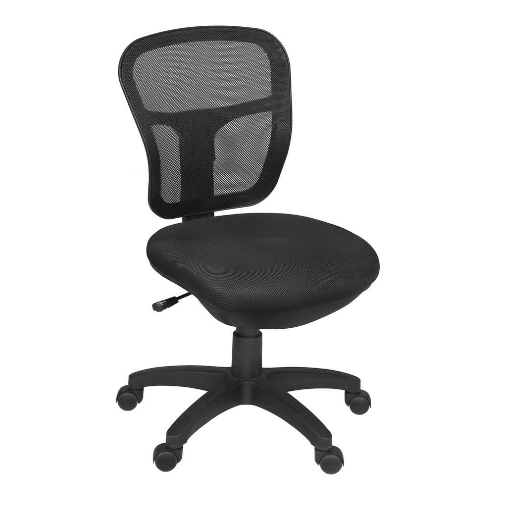 Harrison Black Armless Swivel Chair
