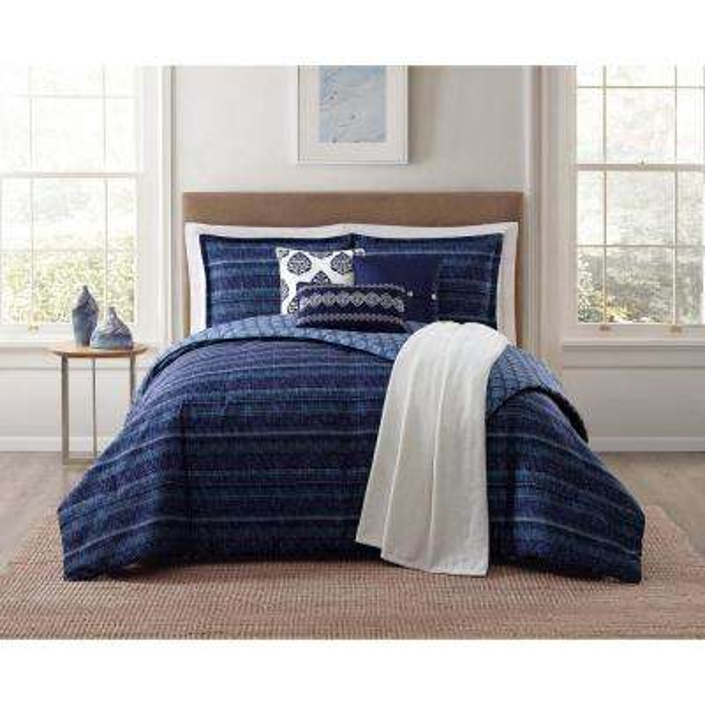 Penbrook 7-Piece Blue King Comforter Set