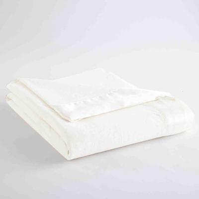 Micro Flannel All Seasons Lightweight White Solid Queen Flat Sheet