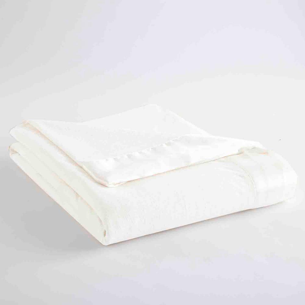 Micro Flannel King White Year Round Polyester Sheet Blanket MFNBKKGWHT