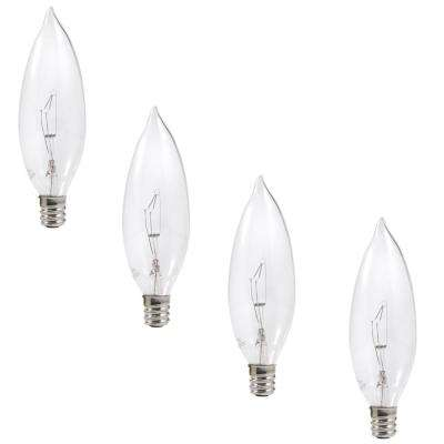 25 Watt Double Life B10 Incandescent Light Bulb 4 Pack