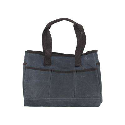 Waxed Canvas Slate Utility Tote Bag