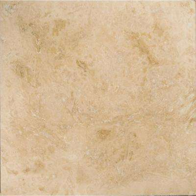 Trav Crosscut Pendio Beige Filled and Honed 12.01 in. x 12.01 in. Travertine Floor and Wall Tile