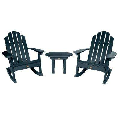 Classic Westport Federal Blue 3-Piece Recycled Plastic Patio Conversation Set