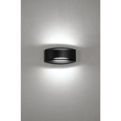 Greeleyville 2-Light Sand Black Outdoor Integrated LED Wall Lantern Sconce with Etched Glass