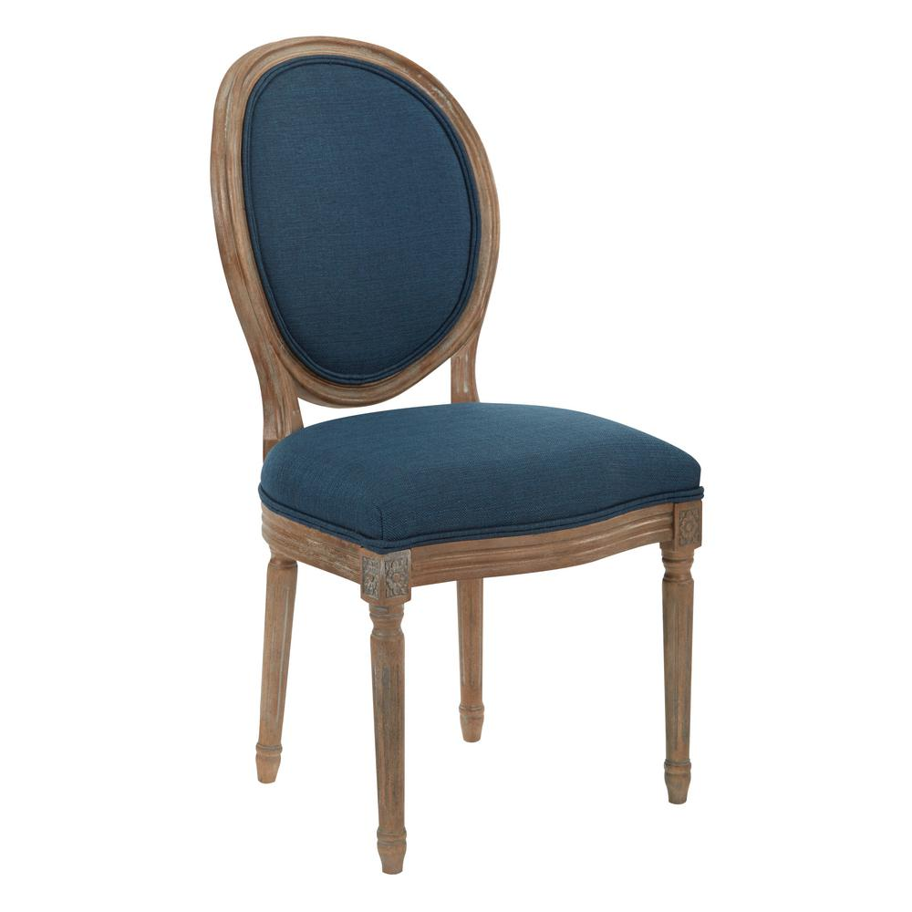 Ave Six Lillian Oval Back Chair Lla K14 The Home Depot