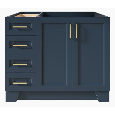 Taylor 42 in. W Vanity Cabinet Only in Midnight Blue