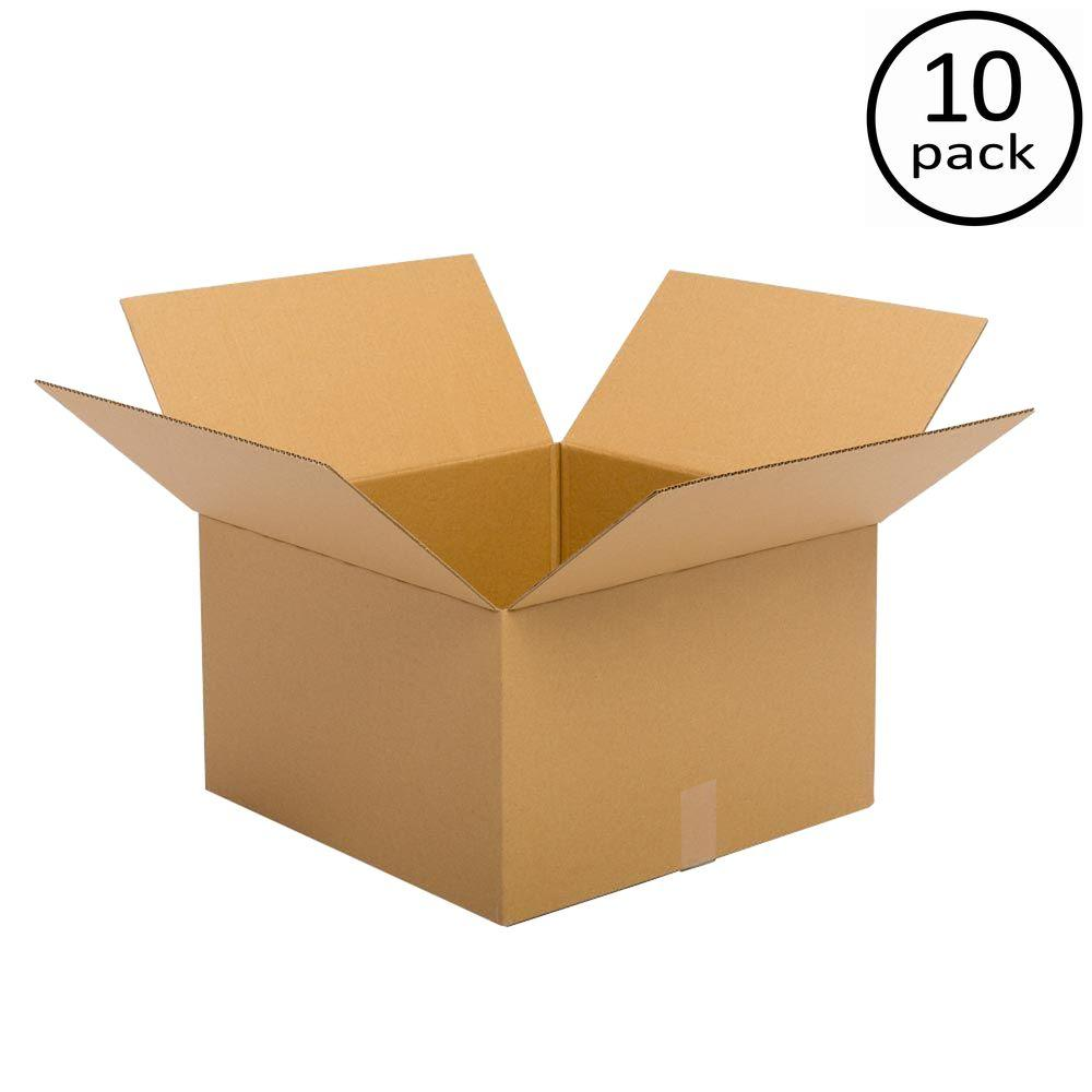 Plain Brown Box 18 in. x 18 in. x 12 in. 48 ECT Double Wall 10 Moving Box Bundle
