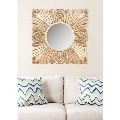 Acanthus 28 in. x 28 in. Solid Wood Framed Mirror
