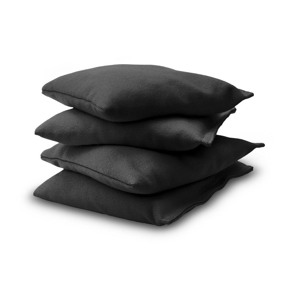 3 Black Mini Cornhole Bags Replacement bags set of 4