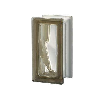 Pegasus Siena RO9 3.7 in. x 7.48 in. x 3.15 in. Wavy Pattern Glass Block (5-Pack)