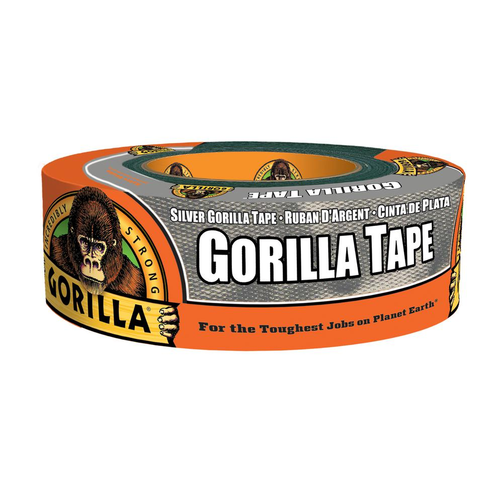 "1.88/"" x 35 yd 2 pack Gorilla Tape Black Heavy Duty Double Thick Duct Tape"