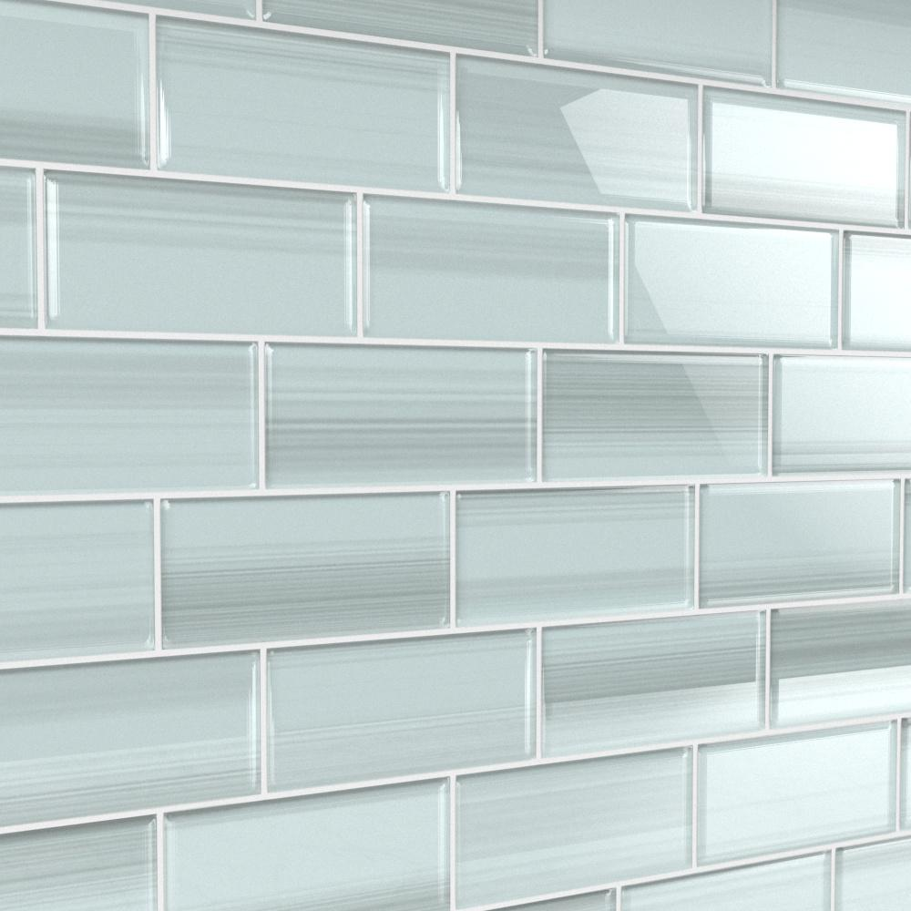 - Bodesi Vesper 3 In. X 6 In. Glass Tile For Kitchen Backsplash And