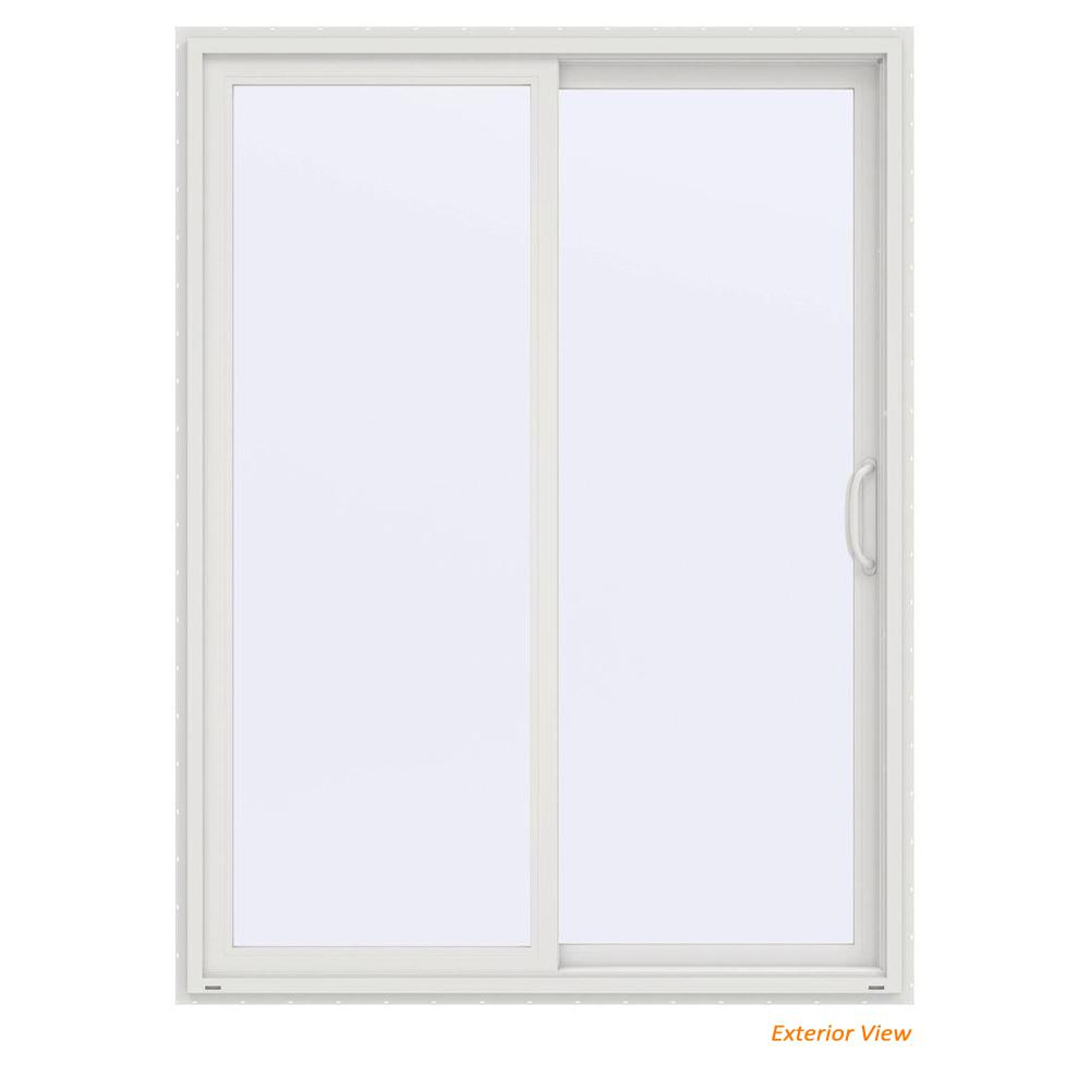 Jeld Wen 60 In X 80 In V 4500 Contemporary White Vinyl Right Hand Full Lite Sliding Patio Door Thdjw155900178 The Home Depot