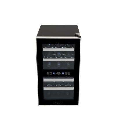 18-Bottle Dual Zone Touch Control Stainless Trim Wine Cooler