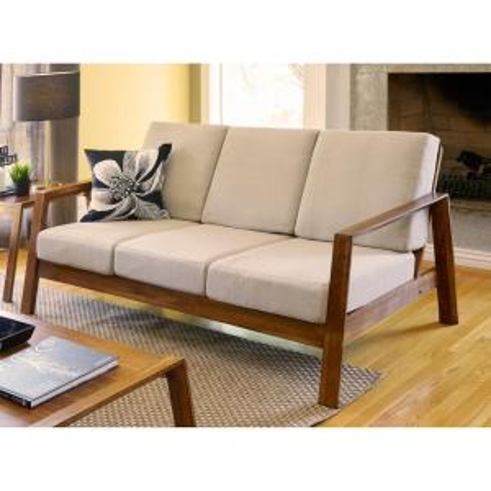 Handy Living Columbus Mid Century Modern Sofa With Exposed