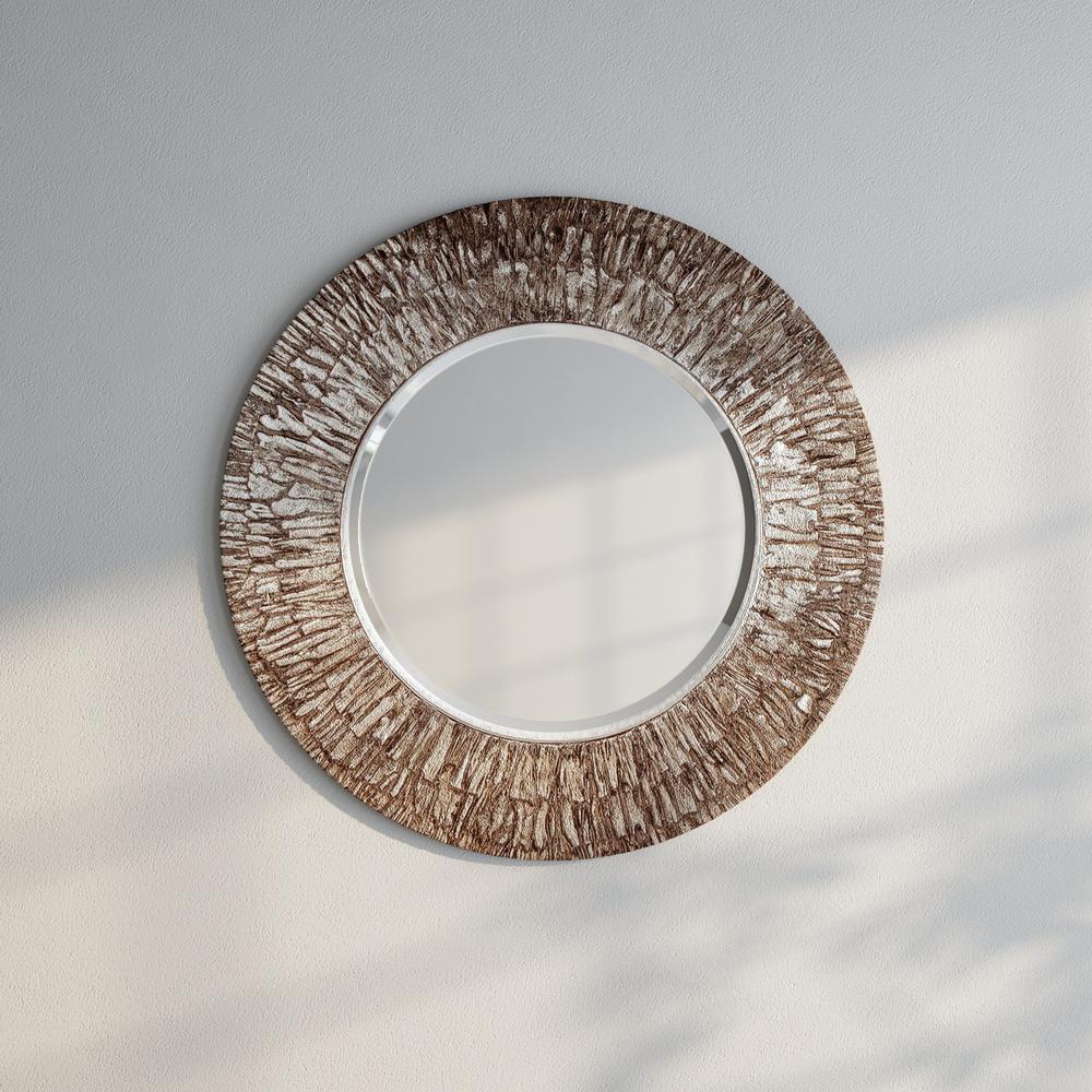 The Howard Elliott Collection 36 In X Linden Round Mirror