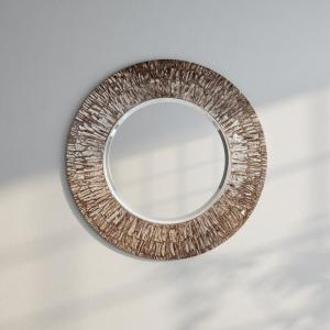 The Howard Elliott Collection 36 inch x 36 inch Linden Round Mirror by The Howard Elliott Collection