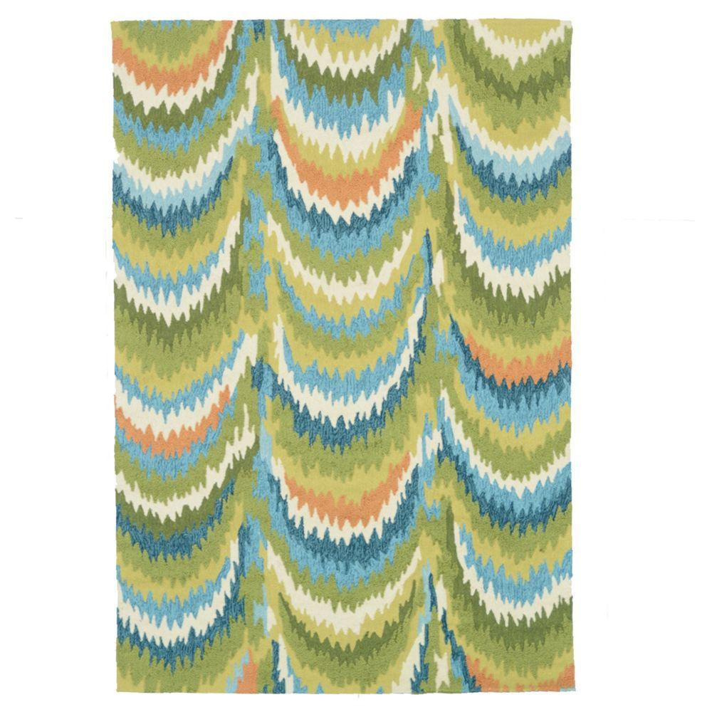Loloi Rugs Olivia Lifestyle Collection Green/Blue 5 ft. x 7 ft. 6 in. Area Rug