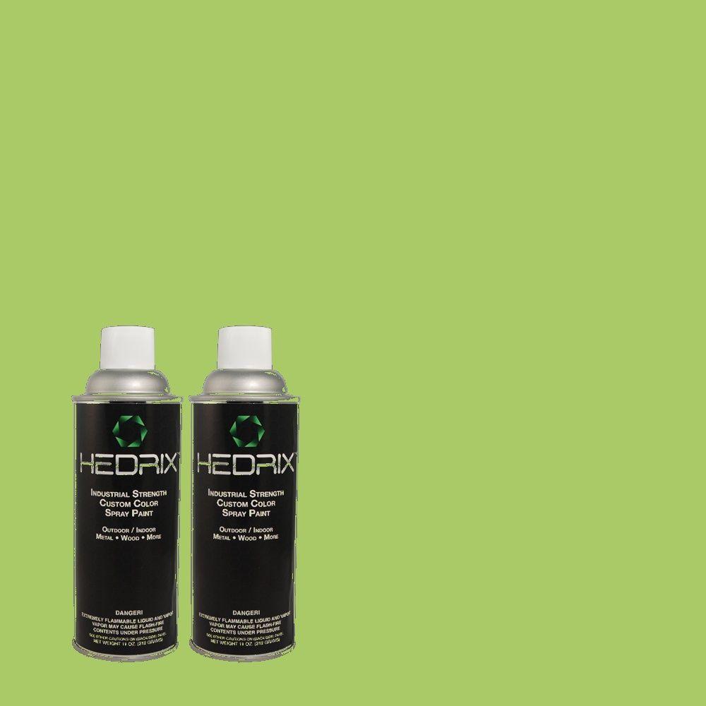 Hedrix 11 oz. Match of 1A59-5 Lush Green Semi-Gloss Custom Spray Paint (2-Pack)