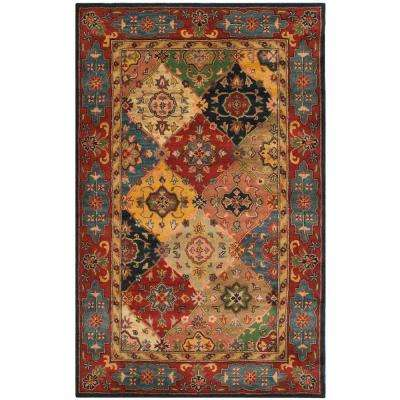Heritage Red/Multi 6 ft. x 9 ft. Area Rug