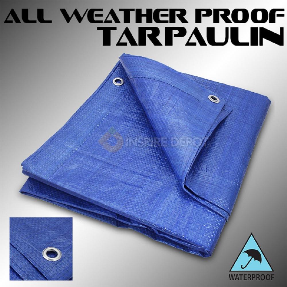 10 ft. x 10 ft. Blue Super Heavy Duty Waterproof Poly Tarp