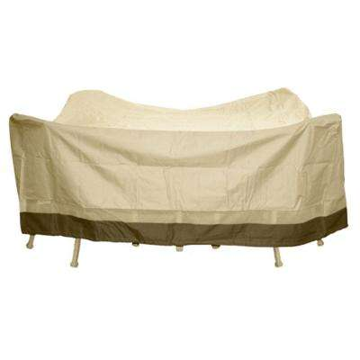 Polyester Square Patio Table and Chair Set Cover