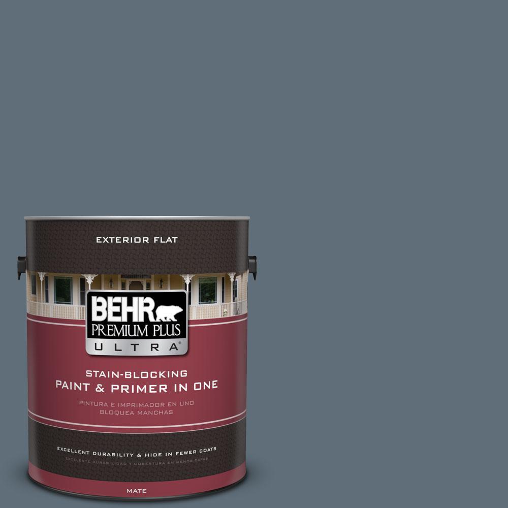 BEHR Premium Plus Ultra 1-gal. #N480-6 NYPD Flat Exterior Paint
