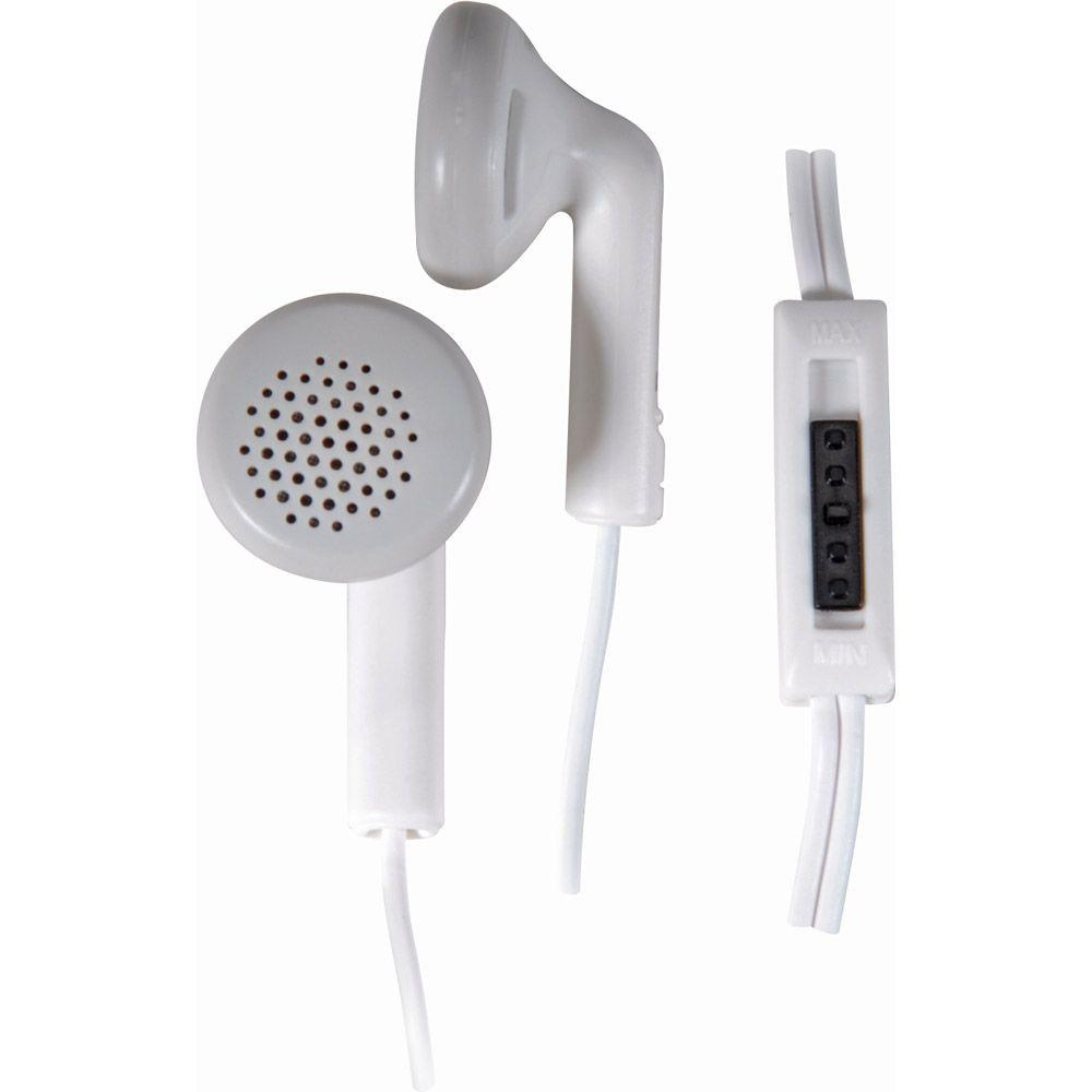 Panasonic Earbud Headphones with In-Cord Volume Control - White-DISCONTINUED