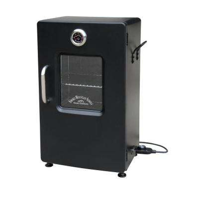 26 in. Black Electric Smoker with Viewing Window