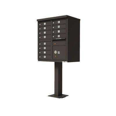 Vital Series Dark Bronze CBU with 12-Mailboxes, 1-Outgoing Mail Compartment, 1-Parcel Locker