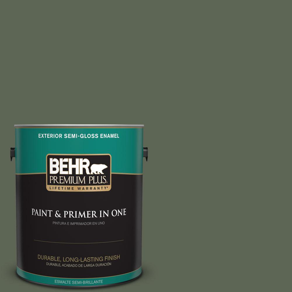 1-gal. #BXC-06 Amazon Foliage Semi-Gloss Enamel Exterior Paint